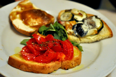 Bruschetta al Pomodoro at Trattoria La Grotta della Rana in San Sano, Italy - Photo by Taste As You Go