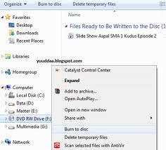 Cara Burning Data di Windows 7 tanpa Aplikasi