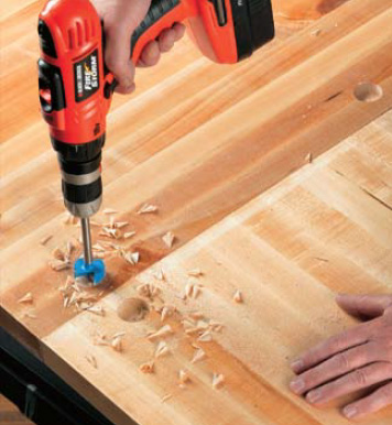 Countertop Joining Bolts : joints between countertop sections. Lay the two sections of countertop ...