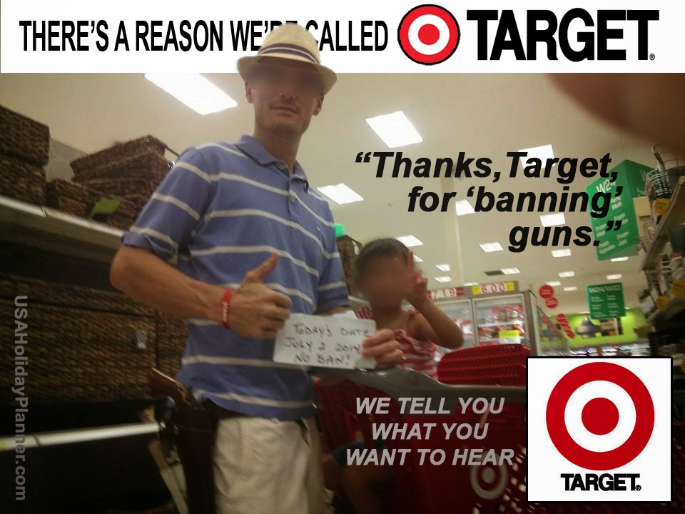 Target respectfully asks people not to bring guns.  People do anyway.
