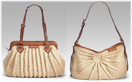 Designer Crochet Handbags : 10, 11 - Juicy Couture from here and here ; 12 - Miu Miu ?