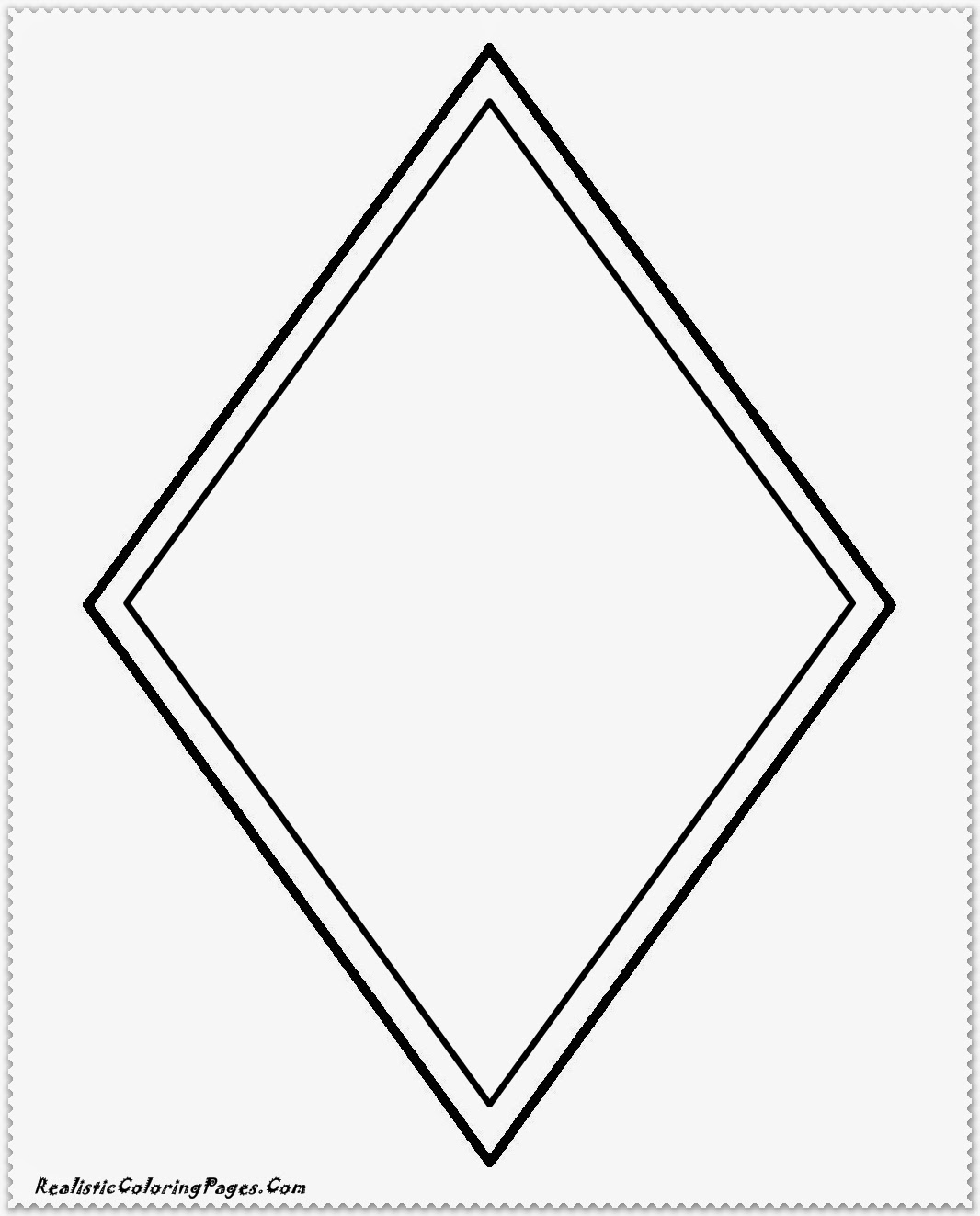 Simple shape coloring pages realistic coloring pages for Diamond coloring page