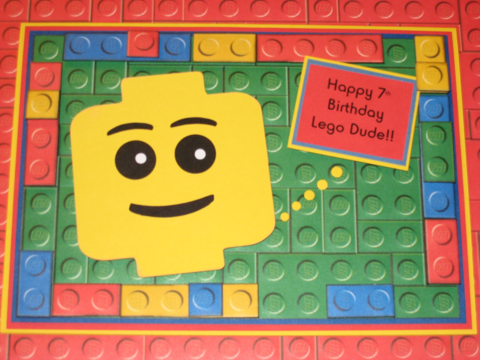 My paper productions lego birthday card lego birthday card bookmarktalkfo Image collections