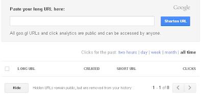 Cara Mudah Menyingkat URL dengan Goo.gl
