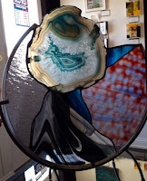 agate, stained glass, fused glass, Paul McShery