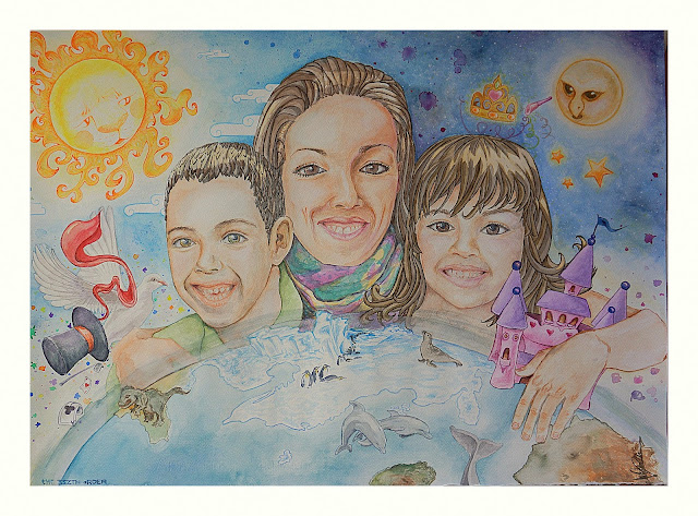 SPECIAL WORKS: Fantasy portrait, Kiki's Family - Elizabeth Casua, tHE 33ZTH oRDER