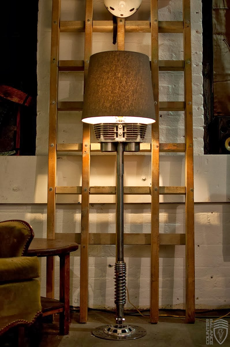 Counter Balance Cycles 650cc Floor Lamp