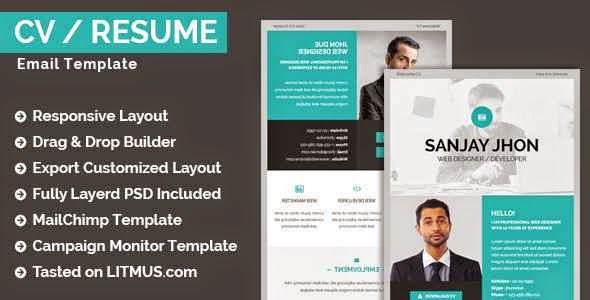 CV / Resume Email Template + Builder Access