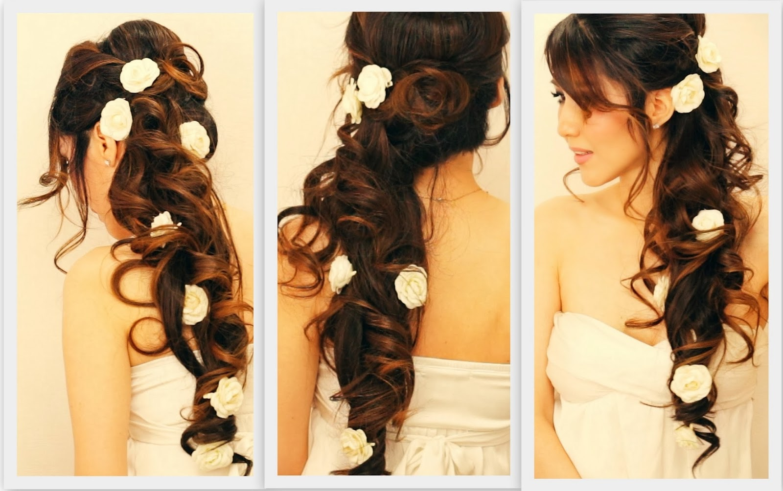 side hairstyles for long hair wedding