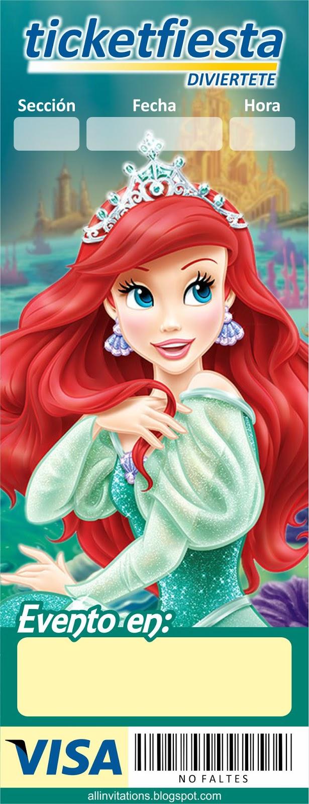 de la Princesa Ariel, personaje de la película La Sirenita de Disney
