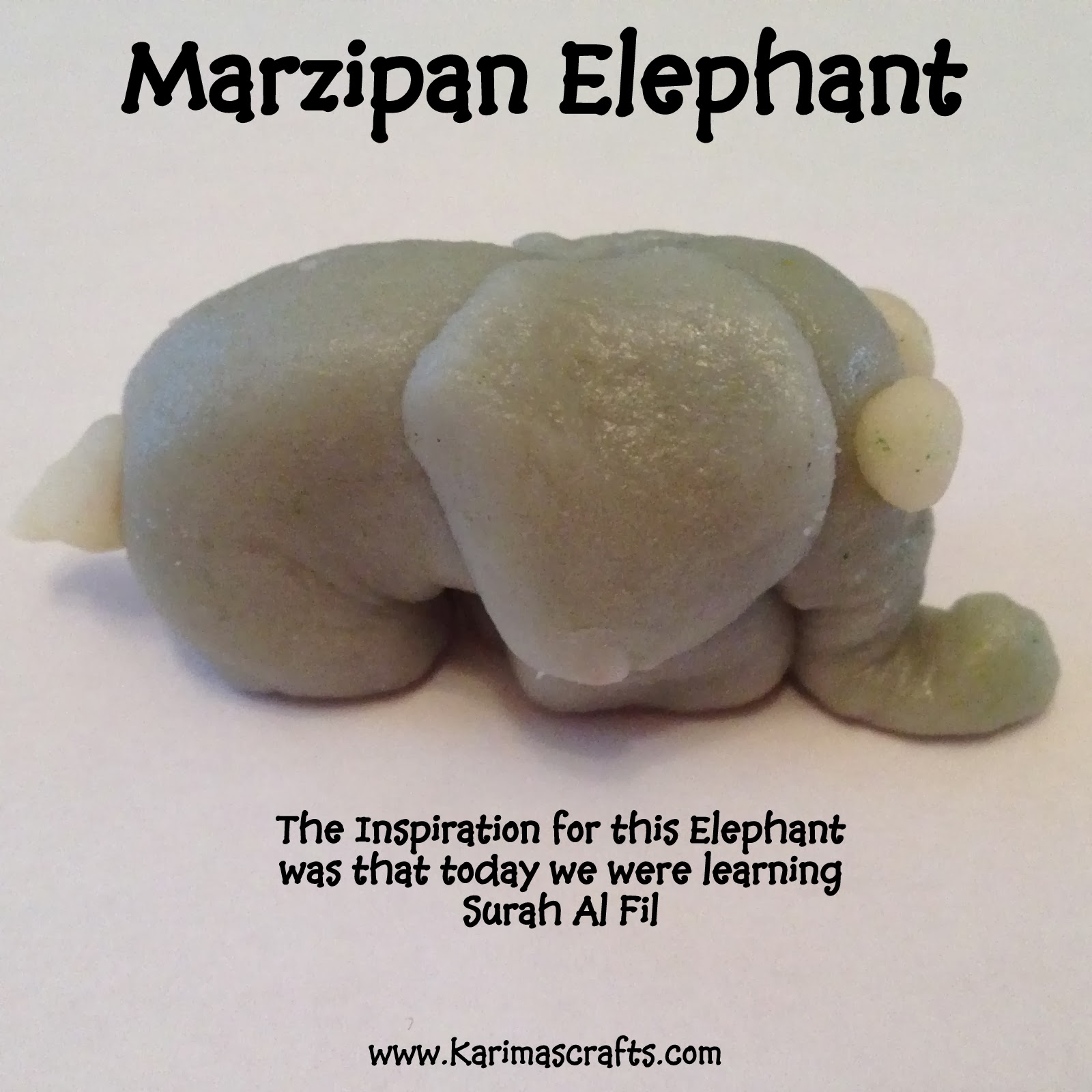 fun marzipan crafts elephant