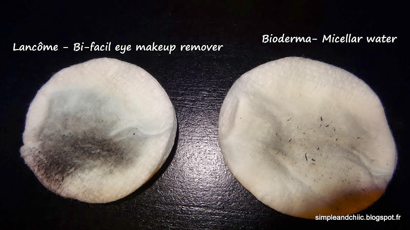 to remove my eye makeup i always soak up two cotton pads with product i place them on my closed eyes and press gently for a few seconds 20 to 30s