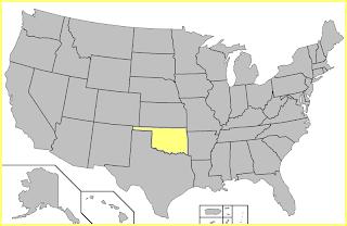 Mapa Oklahoma