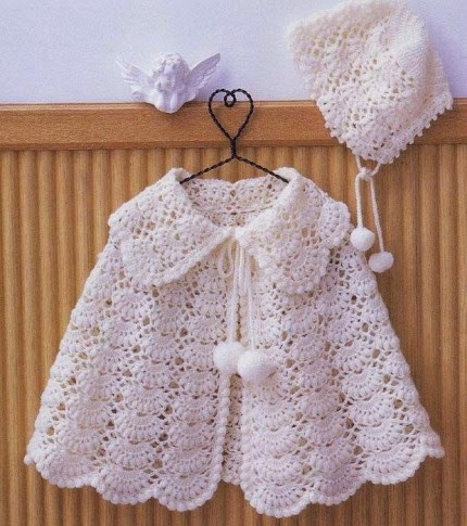 White Baby Cape - Free Pattern