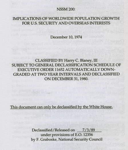 Memorandum Seguridad Nacional 200