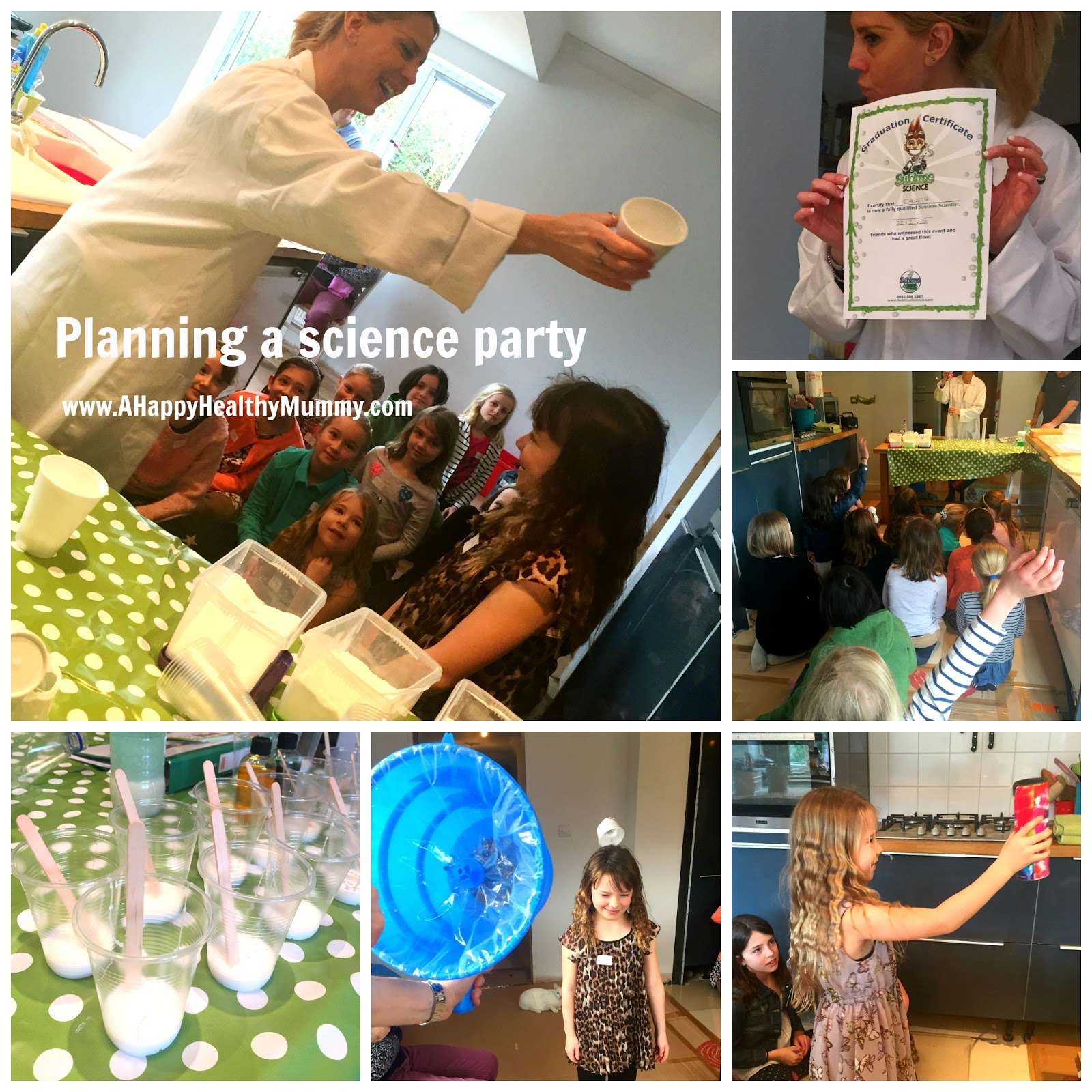 The Sneaky Science Behind Your Childs >> A Happy Healthy Mummy Sublime Science For A Party With A Bang