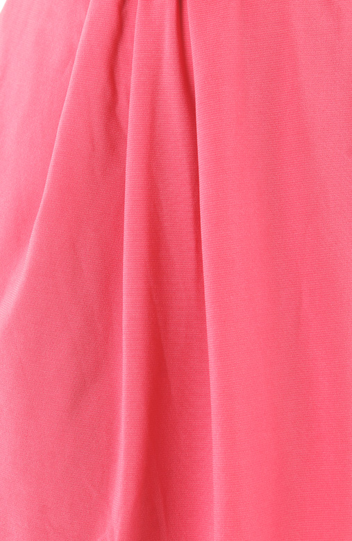 Salmon Pink One-shoulder Dress