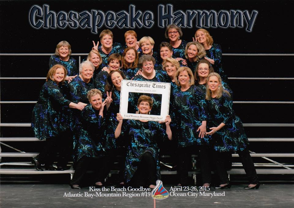 The ladies of our chorus - April 2015