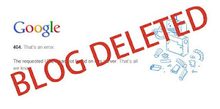 Penyebabkan Blog Anda Dihapus Google