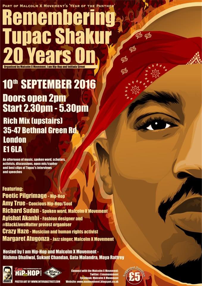MXM event: Tupac Shakur 20 Years On