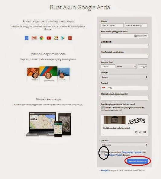 Langkah-langkah Membuat Akun Gmail (Google Mail)