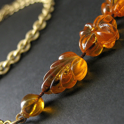 Autumn Leaves Vintage Eyeglass Chain