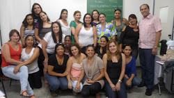 Prof. Marcelo alunas do curso de especialização em Pedagogia Hospitalar da FAMESP
