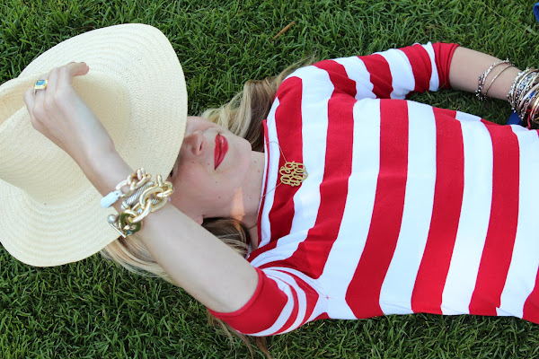 atlantic pacific stripes red white fashion outfit blog
