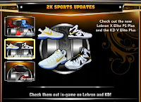 NBA 2K13 LeBron X Elite PS Plus and KD V Elite Plus Shoes