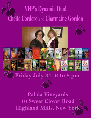 VHP Authors Chelle Cordero & Charmaine Gordon @ Palaia Vineyards 7/31 6-8pm
