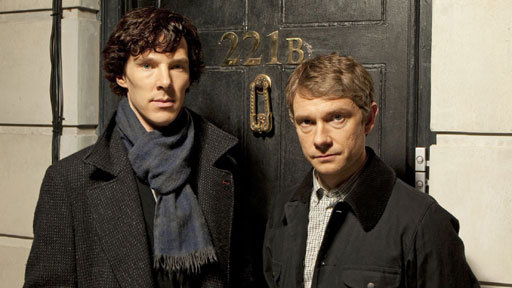 Sherlock with Benedict Cumberbatch and Martin Freeman