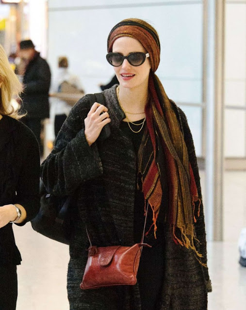 Eva Green at Heathrow Airport in London
