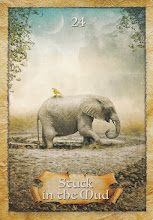 Today's Oracle Card..Feeling stuck? Stop and take a look around. It's time to relax and observe.,