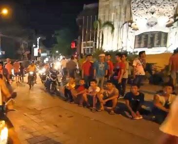 Nightlife in Legian Street, Kuta, Bali, Indonesia