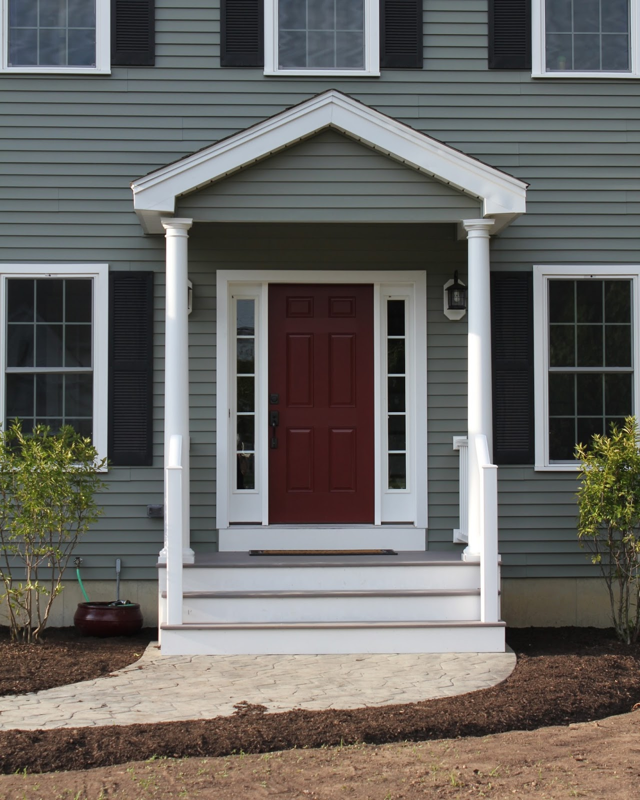 Red Door Grey House red door grey house with decorating ideas