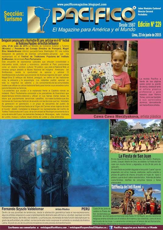 Revista Pacífico Nº 229 Turismo