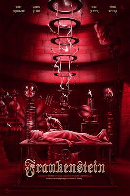 Frankenstein Variant Movie Poster Screen Print by Jonathan Burton & Mondo
