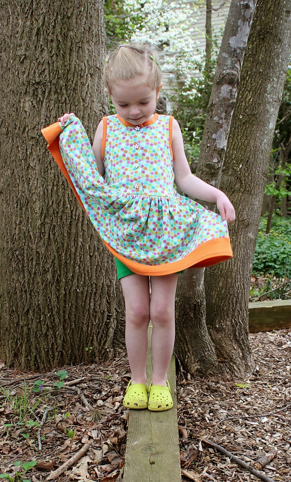One pattern, two looks: sewing the Perfect Party (& Play) Dress by Tie Dye Diva for Easter and for the playground. | The Inspired Wren