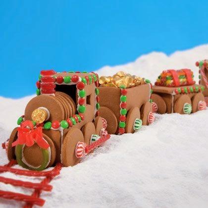 pociąg z piernika świąteczny