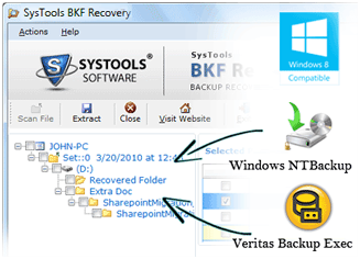 Know How To Open .bkf File On Windows 8/8.1