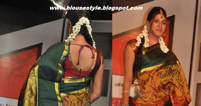 wedding silk saree blouse