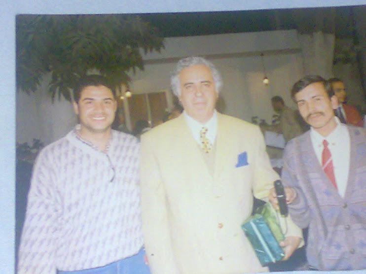 مع سمير عدلى المدير الادارى للمنتخب المصرى