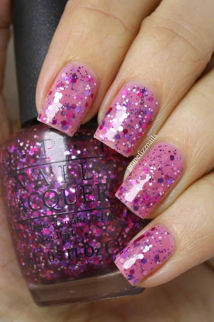 Grape Fizz Nails: OPI Spotlight On Glitter Collection