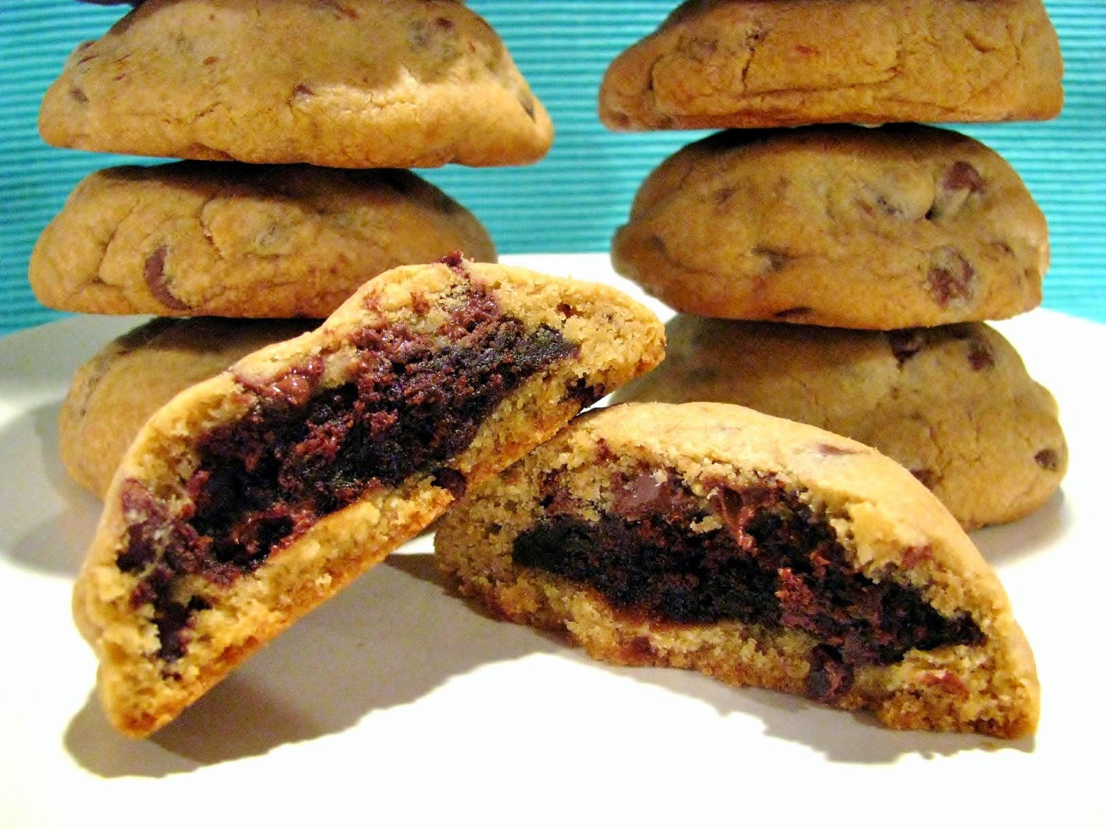 Butter Believe It: Brownie Stuffed Chocolate Chip Cookies