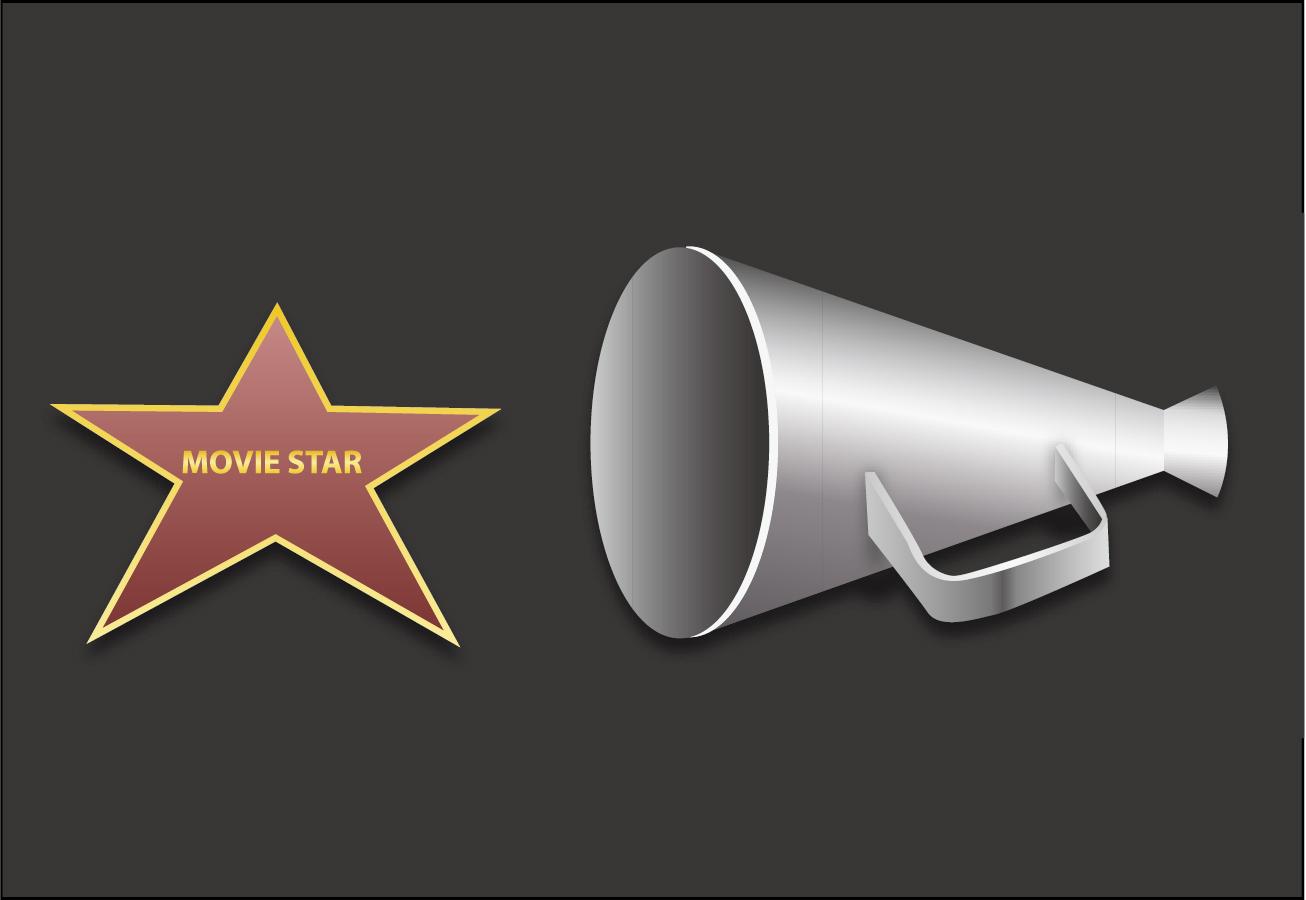 映画撮影のメガホンcinematography megaphone イラスト素材