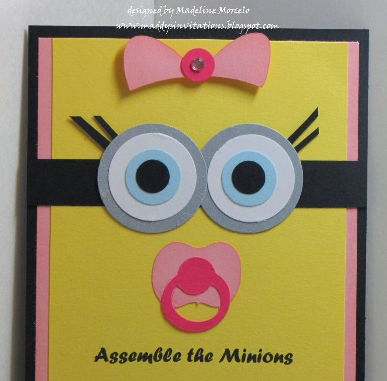 Minion Girl Baby Shower Invite This Beautiful Invite Has Been Requested By  Fe.