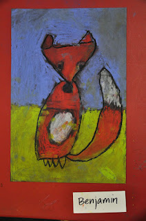 Cute Red Fox Kindergarten Art Project
