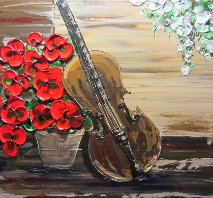 Cuadros modernos pinturas y dibujos : cuadros texturados con hojas ...