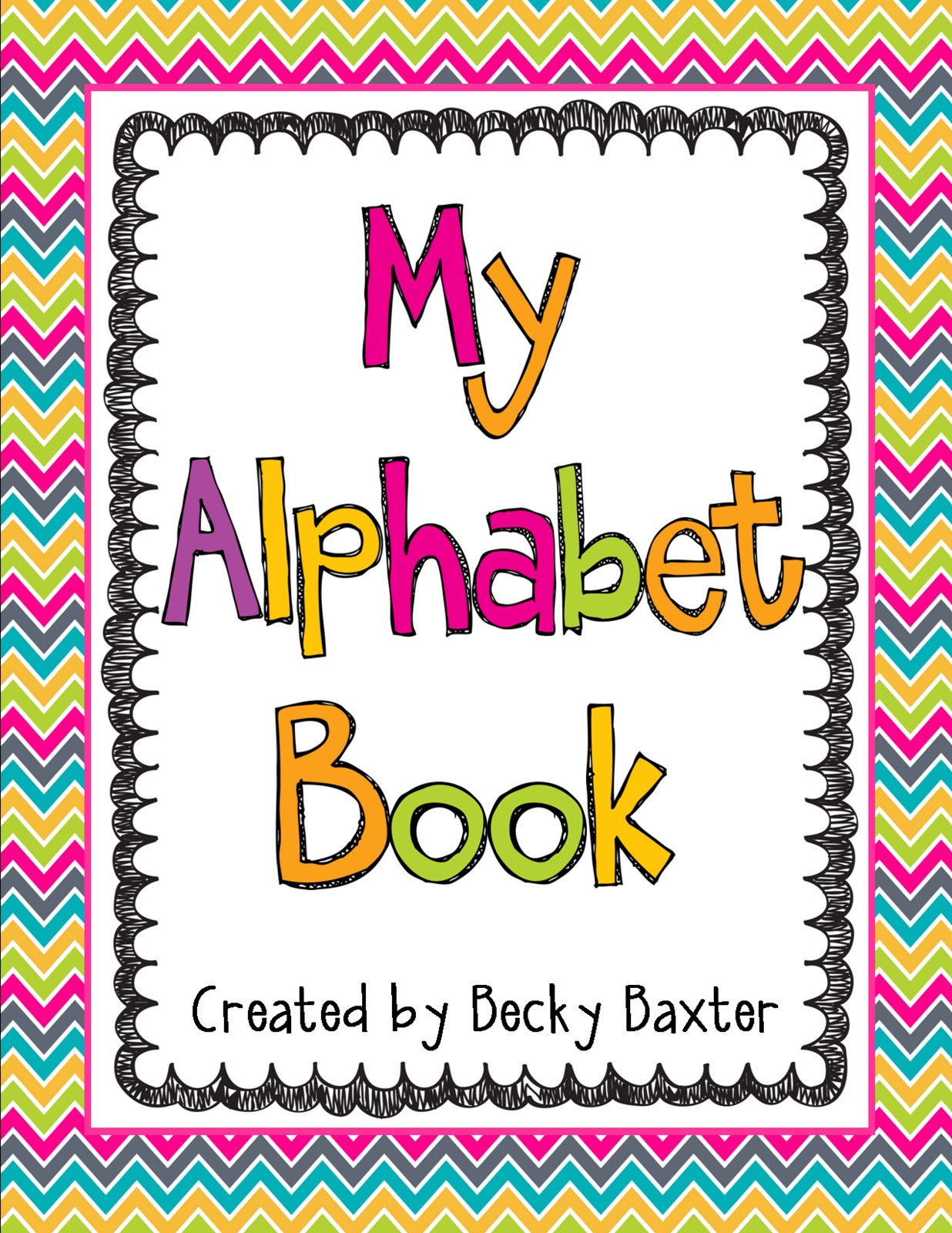 Alphabet Book Cover Printable : Teaching learning loving my alphabet book