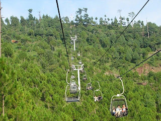 Patriata New Murree visitors enjoying the chairlift ride